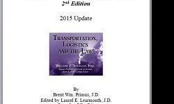 2015 Update for Transportation Logistics and the Law which is a book authored by expert William J. Augello. This includes MAP-21, FMCSA and Rotterdam Rules - a must for shippers and their trade associations, carriers, brokers and freight forwarders
