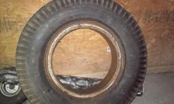 8 X 25 X 20 Both wheel & tire are in good condition. Can meet in Springfield on Friday evenings.