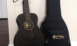 """Martin LX Black Little Martin + Extras?$300.00 Firm This small form steel string guitar is a perfect started guitar for the next Taylor Swift or an easy travel gig guitar. 6-string Acoustic Guitar with Black Finish and Backpack Gig Bag - """"Little Martin"""""""