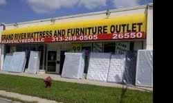 GRAND RIVER MATTRESS AND FURNITURE OUTLET IS #1 HANDS DOWN! CALL STEVE TODAY IF YOU TRULY WANT THE BEST DEAL ON MATTRESSES AND FURNITURE! ONCE IN AWHILE YOU FIND SOMEONE WHO IS EXCEPTIONAL AT WHAT THEY DO . WE ARE THE EXCEPTIONAL MATTRESS STORE . GREAT