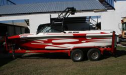 MAKE AN OFFER!! WE FINANCE!!! AWESOME BOAT! .... low hours, runs and looks great! The B-52 designed and built by Mike Brendel, is a great wakeboard model. It's has great pulling power provided by the Excalibur 330 hp and maintains the slower speeds