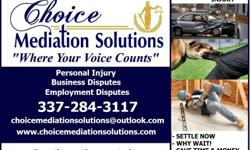 Mediation for Personal Injury Claims  Auto Accident Slip & Fall Workman's Compensation Boundary Disputes Personal Liability Insurance Claims ( Home/Business/Auto)  Mediation will allow you to resolve your claim today. You will have the