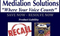 Product Liability - Defected - Harmful - Recalls - Side Effects - Allergic Reactions Mediation will allows you an alternative to resolve now. Mediation offers a confidential, legal binding agreement! Mediation opens the lines of communication to allow
