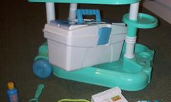 medical kit with carry box, ekg machine, and lots of accessories