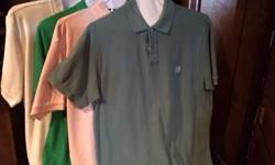 Men's Clothing - All Cleaned & Pressed 9 pr - Shorts - Size 38 - Dockers - $3/ea 18 - Short Sleeve Dress Shirts - Size L - $3/ea 7 - Short Sleeve Polo Shirts (Golf type hirt) - Size L $3/ea 9 - 7 - Short Sleeve Polo Shirts (Golf type with Logos) - Size L