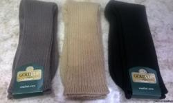 Men's Gold Cup crew socks. 3 pair, black, chino khaki and beige. New with tags.