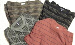 Several namebrand men's sweaters 7. 00 each