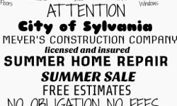 We specialize in all your homega improvement needs. Free estimate no obligation