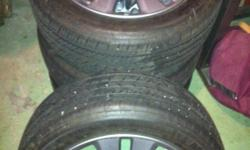 P225/50R17 Michelin tires, less than 1000 miles/custom Honda wheels