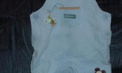 Adorable blue Mickey Mouse coveralls in like-new condition, size 0 - 3 months. Too cute!