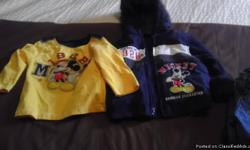 My boys were never able to wear this outfit, so it's basically brand new and in great condition. The long sleeve Mickey Mouse shirt comes with the jacket as a set. I am asking only $8.00 for the set. IF you are interested please email me or send me a text