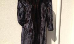 TWO FANTASTIC OFFERS; MINK COAT -Real Fur, Full Lengthand Fully Lined. Dark Brown - Size: Small to Medium.Firm $2,222.00. Original Price was $6,000+. Also Offered for Sale is a WHITE MINK HAT- With a Wide Brim.