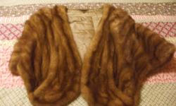 genuine mink stole bought in the 50's in excellant condition inherited when grandmother passed, asking 3000.00 for bought piece the other piece is a stole made from the pelts one is a jacket