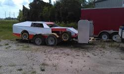 Modified roller race car and trailer. Package deal. New body Contact Jimmy Parker 2282145008