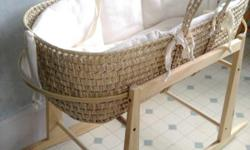 Super cute moses bed...for a boy or a girl. easy to move around the house for those frist few months:) txt or call --