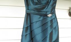 """Brand new dress, """"Jade by Jasmine"""". Never worn. Purchased last week. Original price $235. Color is called """"Deep Navy"""" but it appears more of a green-blue or teal color."""