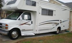 2001 Class C 23 ft Jayco Eagle motorhomes with Living room slide out. This unit is very good condition everything works excellent. It have an over head queen bed, booth turns to a bed , and sofa turns to a bed. This motorhome drives excellent and will get