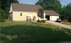 1.5 story house on almost an acre features 3 car detached garage, large floating deck and fenced yard. House has 3 bedrooms and 1 bathroom. Entire main floor has fresh paint, kitchen has new wood look flooring. Barhroom has standard size jetted tub,