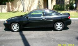 MOVING - Must Sell! $2,800.00 2003 Chevrolet Cavalier LS Sport, 2-door coupe with rear spoiler. LOW Mileage - 79,110!   Automatic transmission, 4 cylinder/2.2 Liter, AM/FM Stereo, CD player - single disc.  Black exterior, Tan interior/cloth