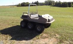 Max IV Argo. Great for hunting, playing in the snow or mud. Excellent conditon. Only driven 581 hours. Serviced every year by a certified mechanic. Garaged. Never left in the weather. Call James .. after 6:00. Amphibious 6x6 ATV that you will love to own