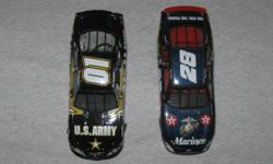 1st one is a Ricky Rudd us Marines #28 racing stock car by Action Collectables. 2nd car is a Jerry Nadeau US Army racing stock car limited edition collectable made by Action collectables. Both cars are 1:24 scale. US Marines asking $20. US Army asking