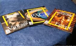 These three magazines are volumes, #5- Treasures of Egypt, #7- Exploring Space and #8-100 Best Vintage Photographs. They are in excellent condition.