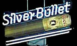 Neon Coors Beer silver bullet sign, a classic great condition, perfect for your bar addition, $100 850-414-3900