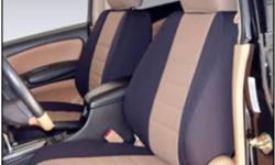 Custom Fit Neoprene Seat Covers NEW Solid Two-Color car seat covers bottom and back are bonded to half inch thick foam for added comfort and protection. Laminated with nylon on both sides, making it twice as strong. No rubber touches your seat