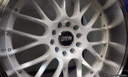 If you want the Look, then These are White STR 514s 18x8.5 with a very nice big dish Machine lip. If its a big lip your looking for, THIS IS IT! Ive provided a few pics to help you picture how they'd look on your car ;D $600 and they're all yours but for