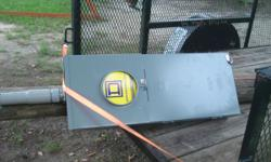 new 200 amp power pole with 2 ground rods .. 850-381-5336