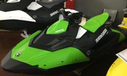New 2016 Sea-Doo Spark 3up 900 HO ACE Personal Watercraft with IBR and Convenience Package in Key Lime green, stock #1530, MSRP: $7399.00 CALL TODAY FOR THE BEST SALE PRICE GUARANTEED ONLY AT JIM POTTS MOTOR GROUP IN WOODSTOCK! The Sea-Doo SPARK makes