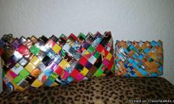 """Brand New! Never once been used! Clean! & Smoke Free Tissue wrapped and inside a gift bag (Already own similar bag) Retail over $30 Original Nahui Ollin Candy Wrapper Clutch 10x4"""" Top zipper Nahui Ollin name inside clutch Also Includes: Brand New/Unused"""