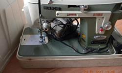 NEW HOME Sewing Machine Model 534 Original owner bought it in 1966 Good condition, needs some maintance and the plug for the light needs fixed Practically an antique!! Comes with carrying case, manual and small box for extra feeders, etc. Sews great!!