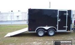 Stock #:custom order Serial #:order Description ::: ai6x12 ta2 enclosed cargo trailer include: 24? atp stoneguard front, new st205 15? bias ply tires, white modular wheels, aluminum tear drop fenders, 2 & 5/16? coupler, double rear doors w/ bar lock, .024