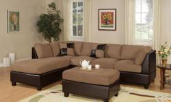 SECTIONAL DEALS YOU WILL LOVE & MORE!!!!  PLEASE VISIT OUR WEBSITE TO SEE WHAT ELSE WE HAVE TO OFFER... www.CTCFurnitureClub.com  ? TWO TONE MICROFIBER & LEATHER ? 9 FOOT BY 7 FOOT ? DELIVERED AS EARLY AS TODAY.... YES TODAY! ?