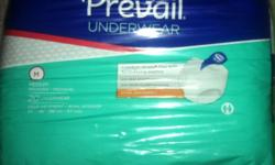 """New Prevail underwear Extra Absorbency Confort-Shape Plus with form-fitting elastics with Oder Guard Protection 20 Medium 34""""-46""""$50 each"""