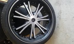 "I have a new set of 22"" rims they will fit a 5 and 6 lug car if you are interested please call or text 702-306-8512 or email tntbrostyler@Gmail.com I am up for bargians. Thank You"