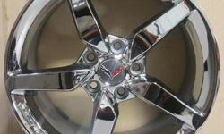 NEW ZL1 CORVETTE REPLICA CHROME WHEELS!(((18X8.5 FRONTS 19X10 REARS)))((((CENTER CAPS NOT INCLUDED)))))(((CAN ORDER CORVETTE CENTER CAPS FOR ADDITIONAL COST)))