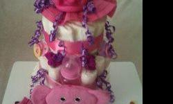 Arlyn's Newborn Arrangements I make newborn arrangements (Diaper Cakes) for mommy's 2 be or new babies.They make a great gift or center piece for baby showers. Prices start at $50.00 and up. Prices depend on brand and size of diapers and size of