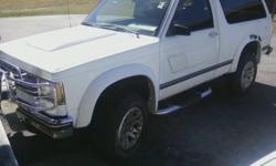 I have a very nice '87 S10 Blazer SuperSport customized by ChooChoo Customs of Chattanooga. There are very few problems which will mostly be fixed soon. It has a skyroof, but was sealed before I bought it, the passenger window is off track, easy fix, the