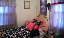 Beautiful Girls Twin Poster Bed For Sale, the bed is about 2 years old and is in great condition. This bed was used by my 10 yr, old daughter it looks so pretty in a girls room I also have the Twin Mattress (No Boxspring) for sale too I can sell both