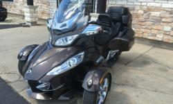 Nice Pre-Owned 2012 Can-Am Spyder RT Limited Motorcycle / Trike in Lava Bronze Metallic, 24,000 miles, stock #M1731a, FULLY LOADED with tons of extras including over $2,000.00 worth of LED lights, upgraded seat, and much more! NOW JUST $15995 ONLY AT JIM
