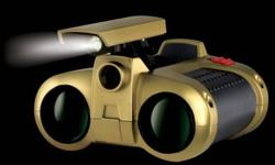 """NIGHT VISION BINOCULARS Product Description: Don't let the dark of night keep you from seeing what's out there! These spectacular """"night-noculars"""" are the perfect accessory for illuminating vision any time, day or night. They feature a pop-up spotlight,"""