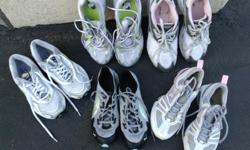Running shoes in good used condition, 8$ each pair. Nike,puma, reebok etc etc
