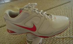Nike sneakers, new, size 8.5, white, leather.