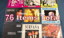 Nirvana -Alice In Chains -Mad Season -Stone Temple Pilots >Albums -Records -VHS -DVD's -CD's -Booksetc - 76items total. Click on or copy & paste the photobucket link below to see actual