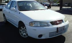 2002 Nissan Sentra GXE Excellent Condition Maintainance & Service up to Date  About Price : $6,995 Body Style : Sedan Mileage : 77,393 Exterior Color : White Interior Color : Gray Engine : 1.8L / 4-Cylinder Horse Power : 126 City / Hwy MPG : 24 /