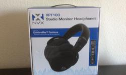 Brand new NVX Headphones that have never opened from the box.