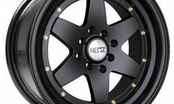 NZ 5003 15X8 4X100 / 114 MATTE BLACK WITH GOLD RIVETS ACURA HONDA HYUNDAI NISSAN MONTEREY RACING CALL TODAY ! http://www.montereyracing.biz/