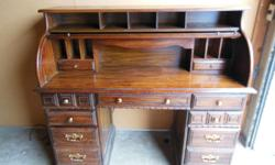 """Solid Oak construction with warm tones and fantastic graining. Unknown manufacturer. In great condition. Used item, but lightly used. It has some minor scratches, but not very noticable. Dimensions are: 48""""H x 53 1/2""""L x 24""""W. This"""